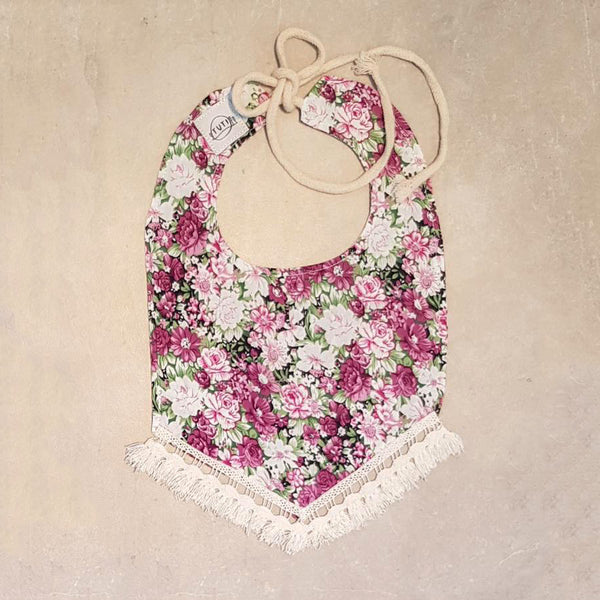 Spring Bloom Tassel Dribble Bib