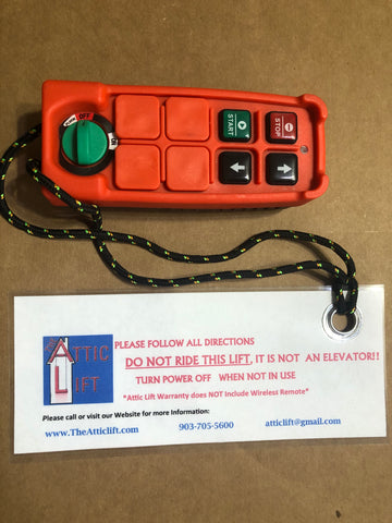 Attic Lift Wireless Remote