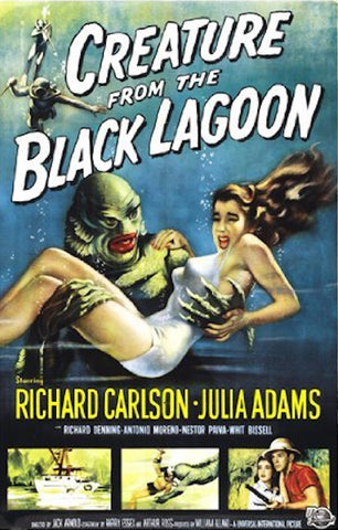 """CREATURE FROM THE BLACK LAGOON"" MOVIE POSTER **FREE SHIPPING (US)"