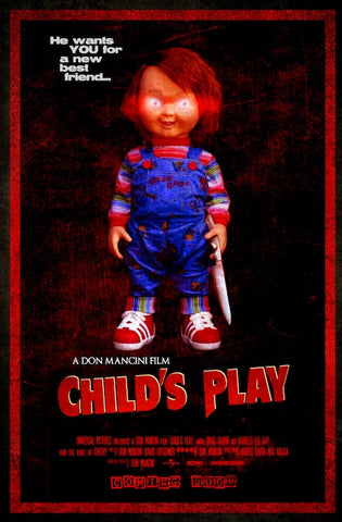 """CHILD'S PLAY"" POSTER   **FREE SHIPPING (US)"
