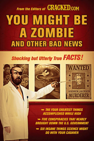 """YOU MIGHT BE A ZOMBIE and other bad news"" Paperback Book **FREE SHIPPING US ONLY**"