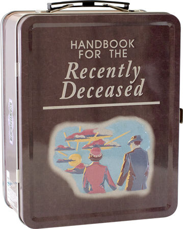 """HANDBOOK FOR THE RECENTLY DECEASED"" Beetlejuice Metal Lunchbox"