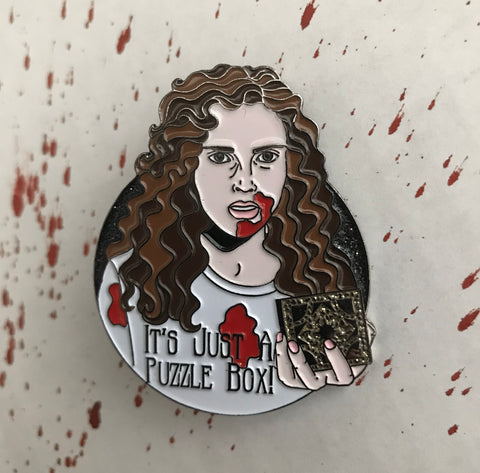 """IT'S JUST A PUZZLE BOX"" Enamel Pin"