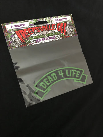 """DEAD 4 LIFE"" Iron on Patch"