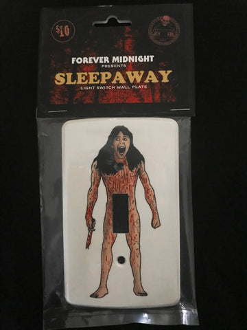 """SLEEPAWAY"" Light Switch Plate"