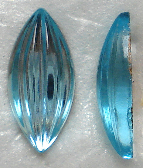 Glass Marquise Specialty Ribbed Cabochons