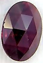 Glass Imitation Garnets Oval Specialty Stones