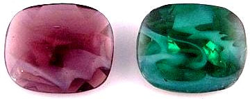 Glass Hand Worked Flawed Buff-Top Doublets Specialty Stones