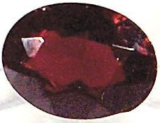 Garnet Faceted Ovals Natural Stones