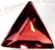 Garnet Faceted Triangles Natural Stones