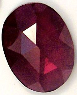 Garnet Oval Rose Cut Natural Stones