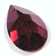 Garnet Pear Rose Cut Natural Stones