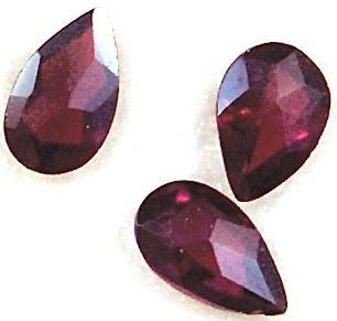 Garnet Pear Star Cut Natural Stones