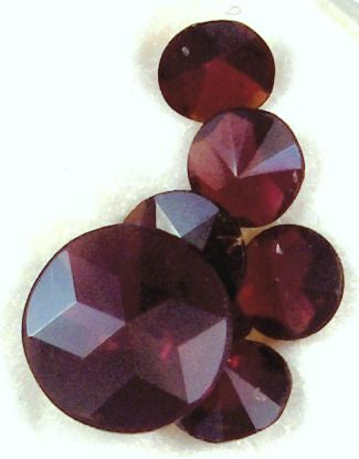 Garnet Round Star Cut Natural Stones