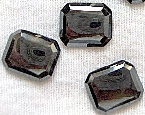 Rose Cut Cushion Octagon Hematite Natural Stone