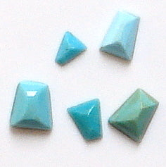 Tapered Baguette Turquoise Natural Stones