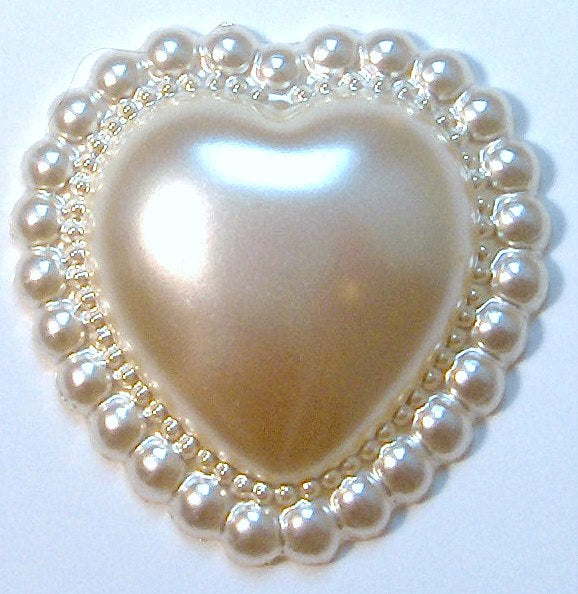 Heart Shape Imitation Pearls