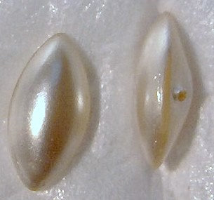 Marquise Buff Top Doublet Imitation Pearls