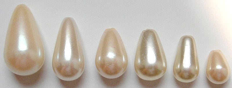 Pear Shape One Hole Imitation Pearls