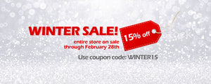 Winter Sale! 15 Percent off through February 28th
