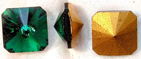8mm (4650) EMERALD SQUARE RIVOLIS