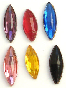9x3mm Marquise Flat Backs