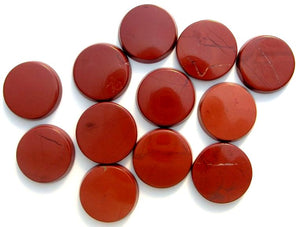 13mm Natural Red Jasper Round Discs
