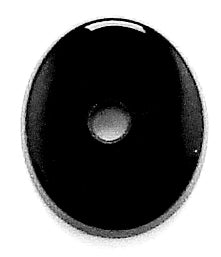 13x11mm Black Onyx Ovals Buff-top with 2mm hole