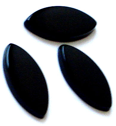 15x7mm Natural Black Onyx Buff-top Marquises