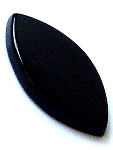 18x9mm Natural Black Onyx Buff-top Marquises