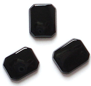 9x7mm Black Onyx Buff-top Cushion Octagon