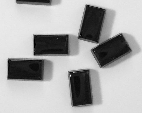 5x3mm Natural Black Onyx Buff Top Cushion