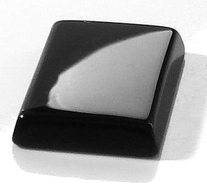 14x10mm Natural Black Onyx Buff-top Cushions