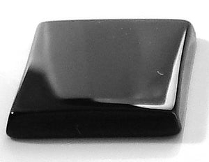 14x12mm Natural Black Onyx Buff-top Cushion