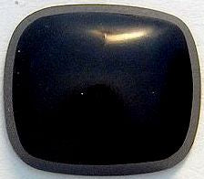 14x12mm Black Onyx Antique Cushion Cabochon