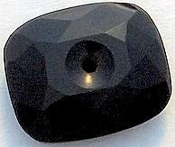 12x10mm Black Onyx Faceted/Buff-top w/2mm hole