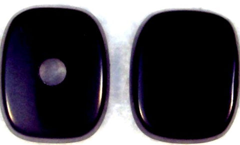 12x10mm Black Onyx Antique Cushion Buff-top