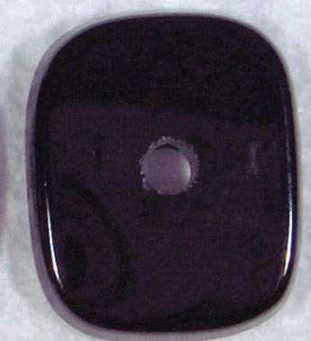 14x12mm Black Onyx Antique Cushion Buff-top