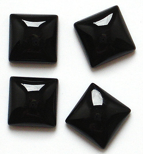10mm Black Only Square Cabochons