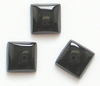6mm Black Onyx Buff-top Squares