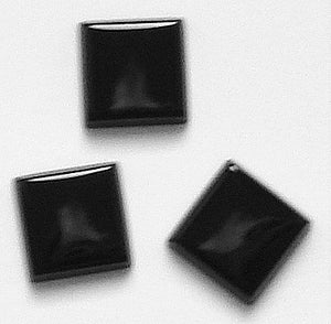 8mm Black Onyx Buff top Squares