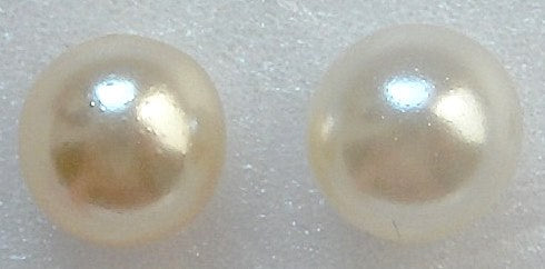 7mm One Hole (Half Drilled) Round Imitation Pearls