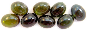 8x6mm Green Tourmaline Oval Cabochons
