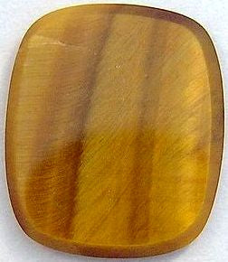 14x12mm Antique Cushion Flat Top Cab Natural Tiger's Eye