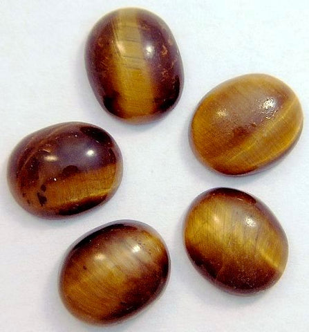 12x10mm Oval Cab Natural Tiger's Eye