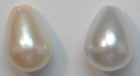 8x6mm Imitation Pearl One Hole Pear Shapes