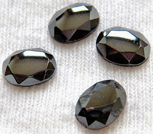 8x6mm Hematite Rose Cut Ovals