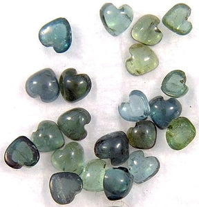 4mm Green Tourmaline Heart Shape Cabochons