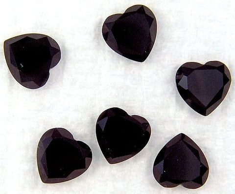 6mm Black Onyx Rosecut Heart Shape