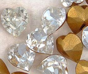 6.6x6mm (4800) Heart Shapes in Crystal